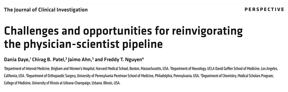 Challenges and opportunities for reinvigorating the physician-scientist pipeline