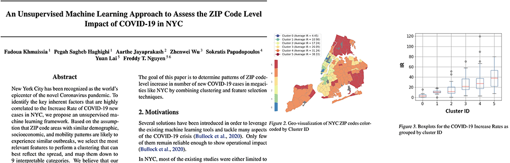 An Unsupervised Machine Learning Approach to Assess the ZIP Code Level Impact of COVID-19 in NYC